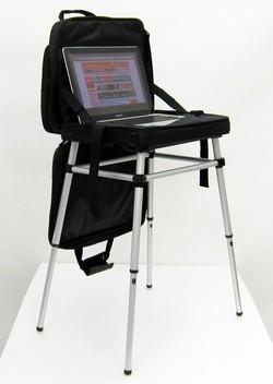 Thanko's Laptop Table Bag stores your laptop, hides a table, saves your lap