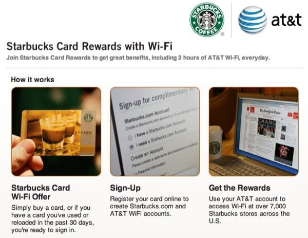 Free AT&T WiFi now at Starbucks