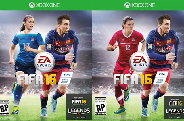 EA puts women on the cover of 'FIFA 16' for the first time
