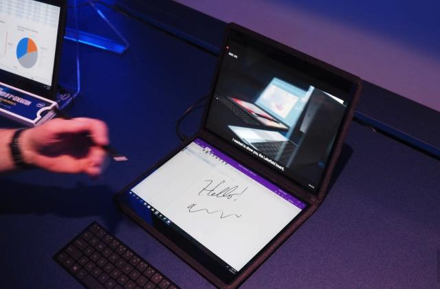 Microsoft is showing a dual-screen Surface device to employees