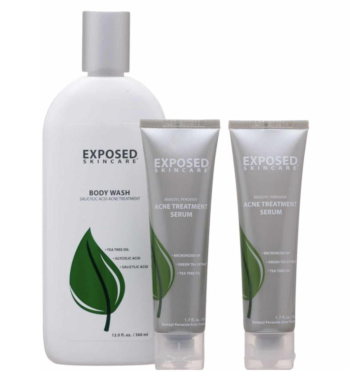 Exposed Skin care Body Acne Kit