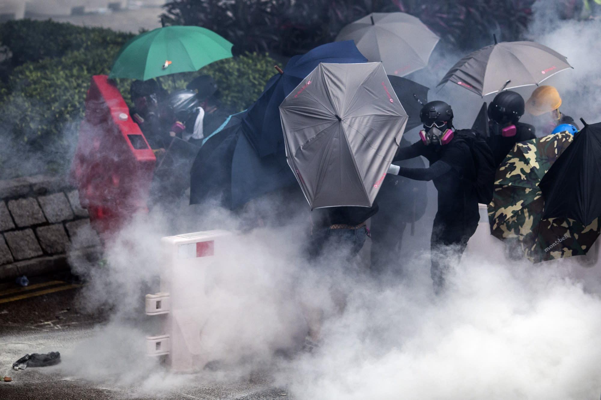 Hong Kong Police Ban Mass March After Subway Station Fire