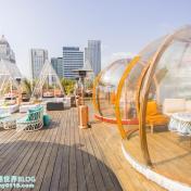 台北信義區最美景觀餐廳!爛醉不累Drunk Play,高空露台的透明泡泡屋和三角形帳怎麼拍都很美~