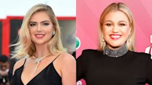 Kate Upton and Kelly Clarkson bond over the torturous pains of breastfeeding