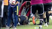 Besiktas manager hit by thrown object amid chaos