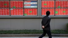 Asian shares wobble on trade, political tensions; focus turns to Fed meet