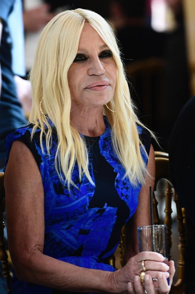 Italian designer Donatella Versace: 'I don't want to kill animals to make fashion' (AFP Photo/Miguel MEDINA)