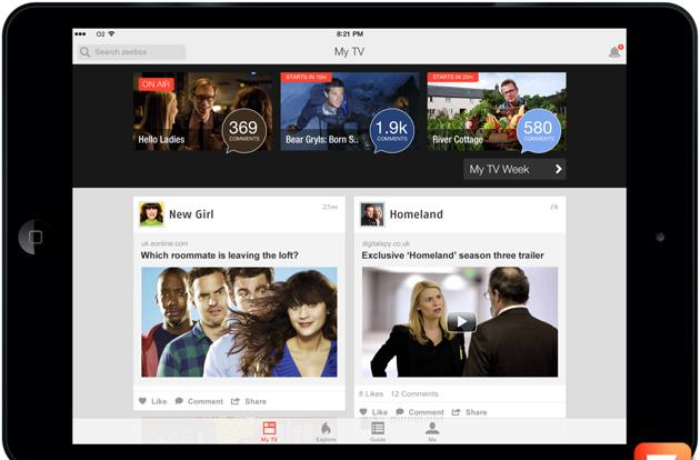 Zeebox update for iOS lets you follow TV show news before the air date