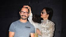 Rekha and Aamir's adorable moments at the screening of 'Secret Superstar'