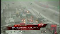 Multiple crashes cause delays in Kenosha Co.
