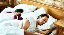 Couple who regularly swap sides of the bed spark debate about sleep habits