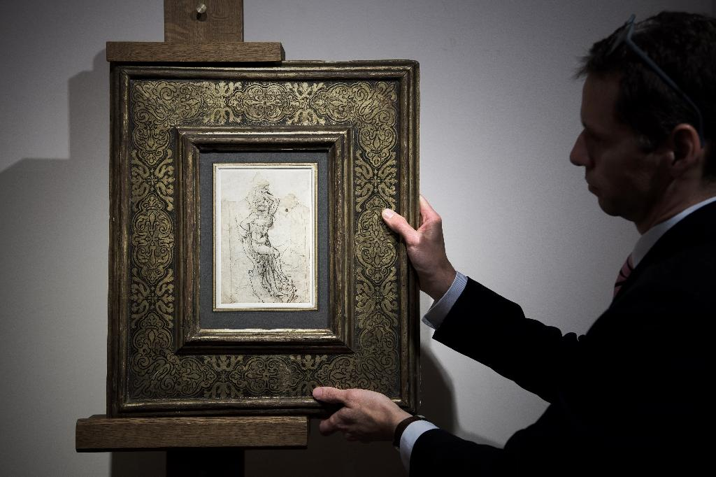 The dramatic Leonardo da Vinci study is one of eight he is known to have drawn of Saint Sebastian