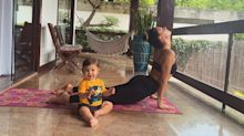 """Rael """"pratica"""" ioga com Isis Valverde e encanta a internet"""