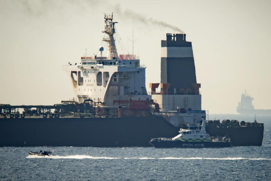 APTOPIX Gibraltar Persian Gulf Tension