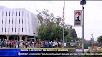 Rainbow flag raised at San Diego State