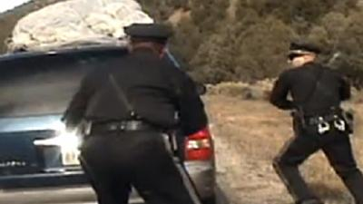 Raw: NM Officer Fires at Minivan in Traffic Stop