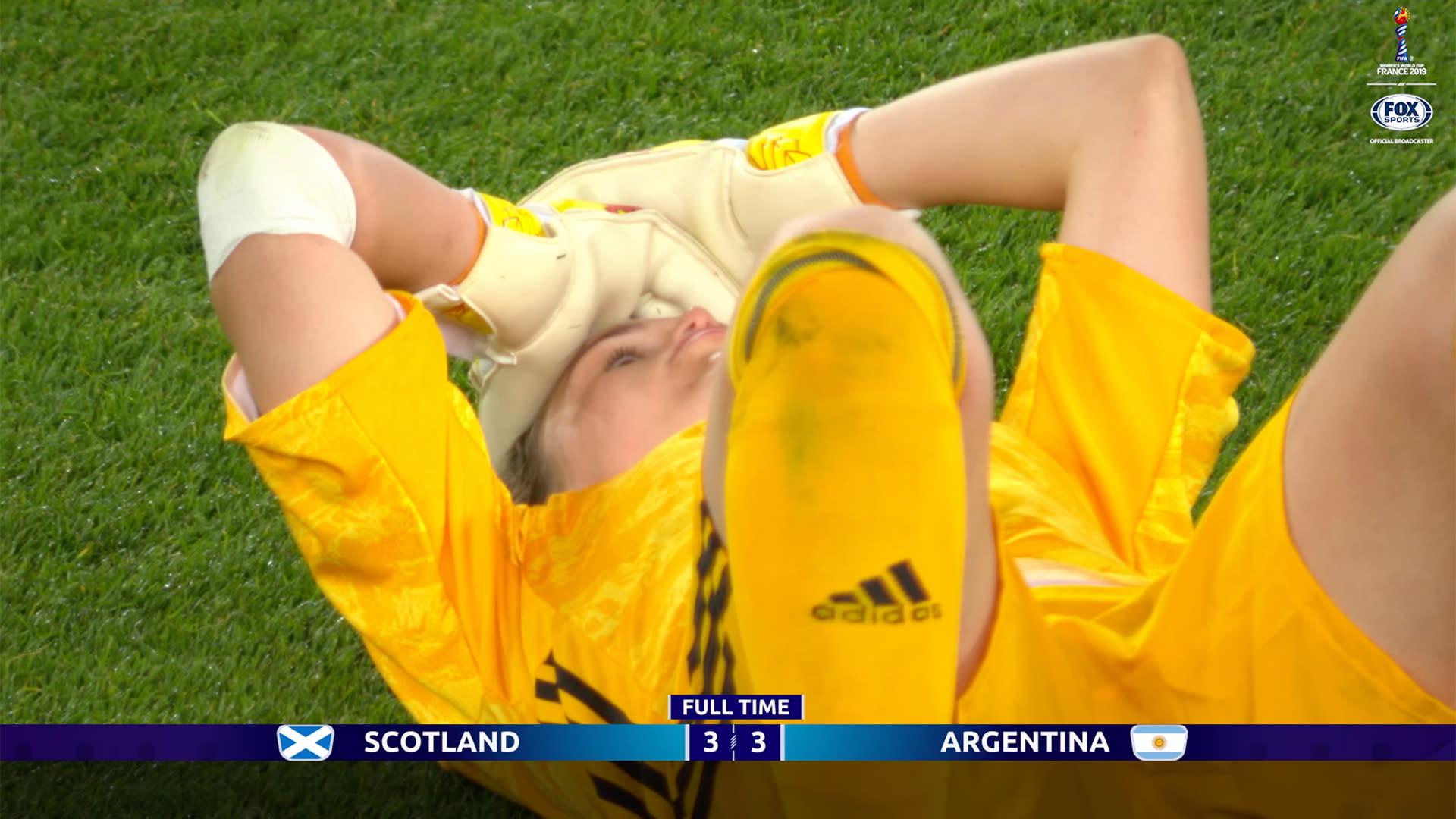 Women's World Cup – Argentina 3, Scotland 3