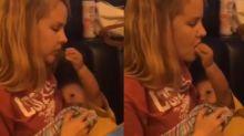 Bebê viraliza com vídeo em que alimenta a mãe enquanto ela o amamenta