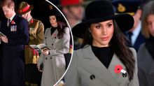 Meghan Markle honours Anzac Day at first Dawn Service with Prince Harry