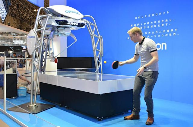 A robot made me (marginally) better at ping pong