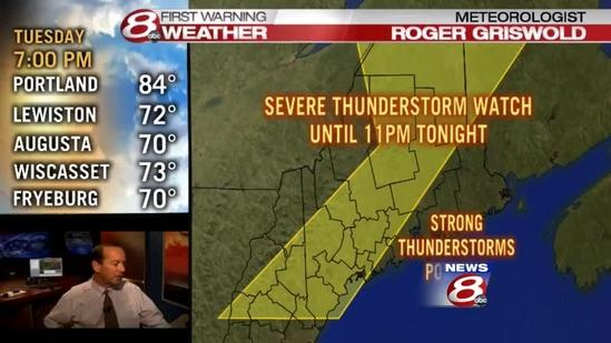 7PM Update on Severe Thunderstorm Watch