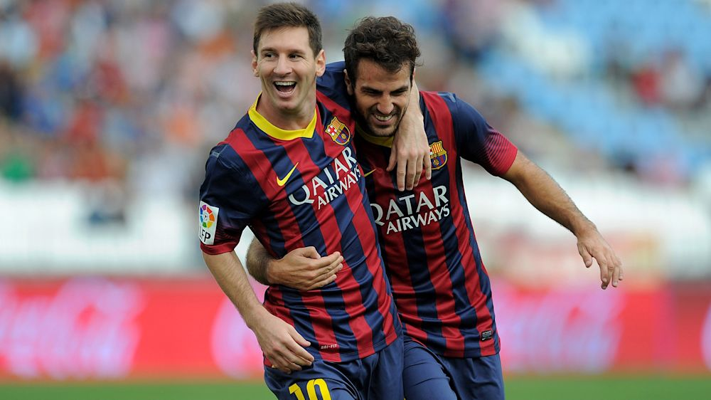 'It's not easy' – Fabregas praises Messi for staying modest
