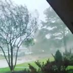 Strong Winds Rush Through New Orleans Suburb During Hurricane Zeta