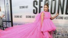 Jennifer Lopez Brings the Drama in Giambattista Valli Haute Couture at Latest Film Premiere