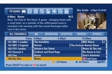 Sky's new HD EPG gets peeked