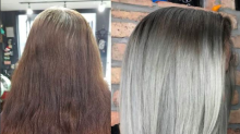 See How This Colorist Transformed Her Client's Graying Roots Into Fully Silver Hair