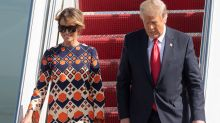 Melania leaves Trump alone on Florida tarmac: 'Totally done'