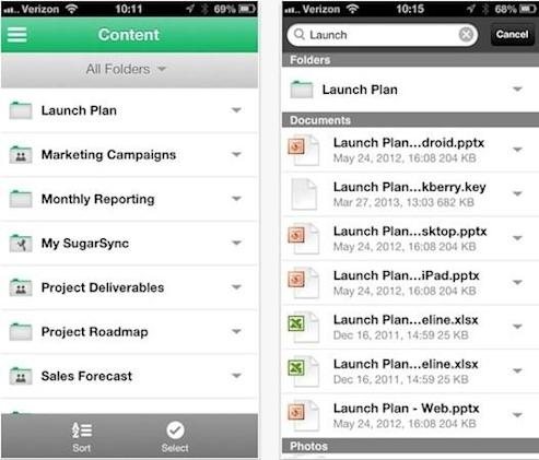 SugarSync for iOS gets an all-new design, multi-platform search functionality