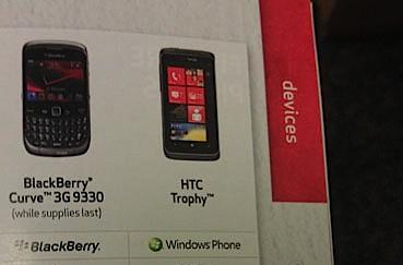 HTC Trophy makes a cameo at Best Buy, teases with global support