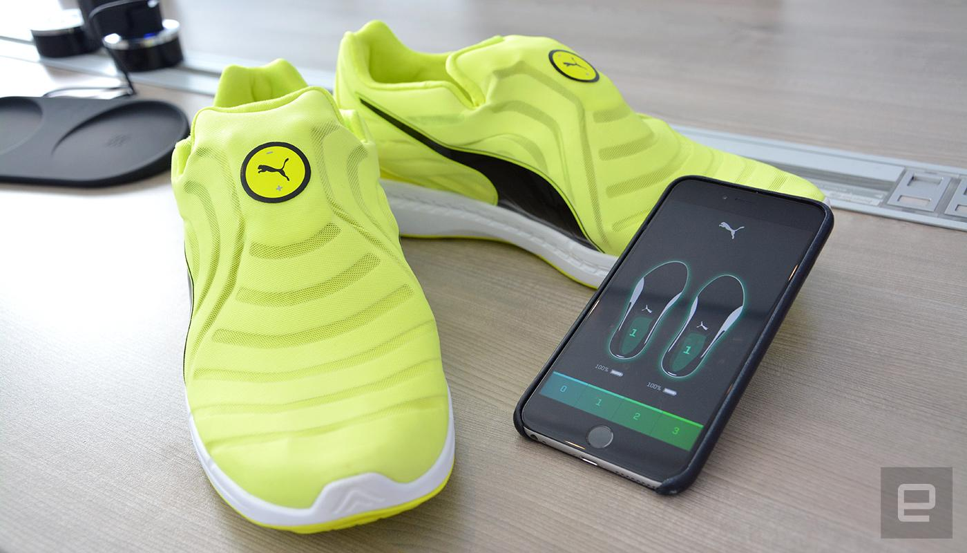Céntrico Contribuyente adoptar  Puma's self-lacing shoes were made for track athletes | Engadget