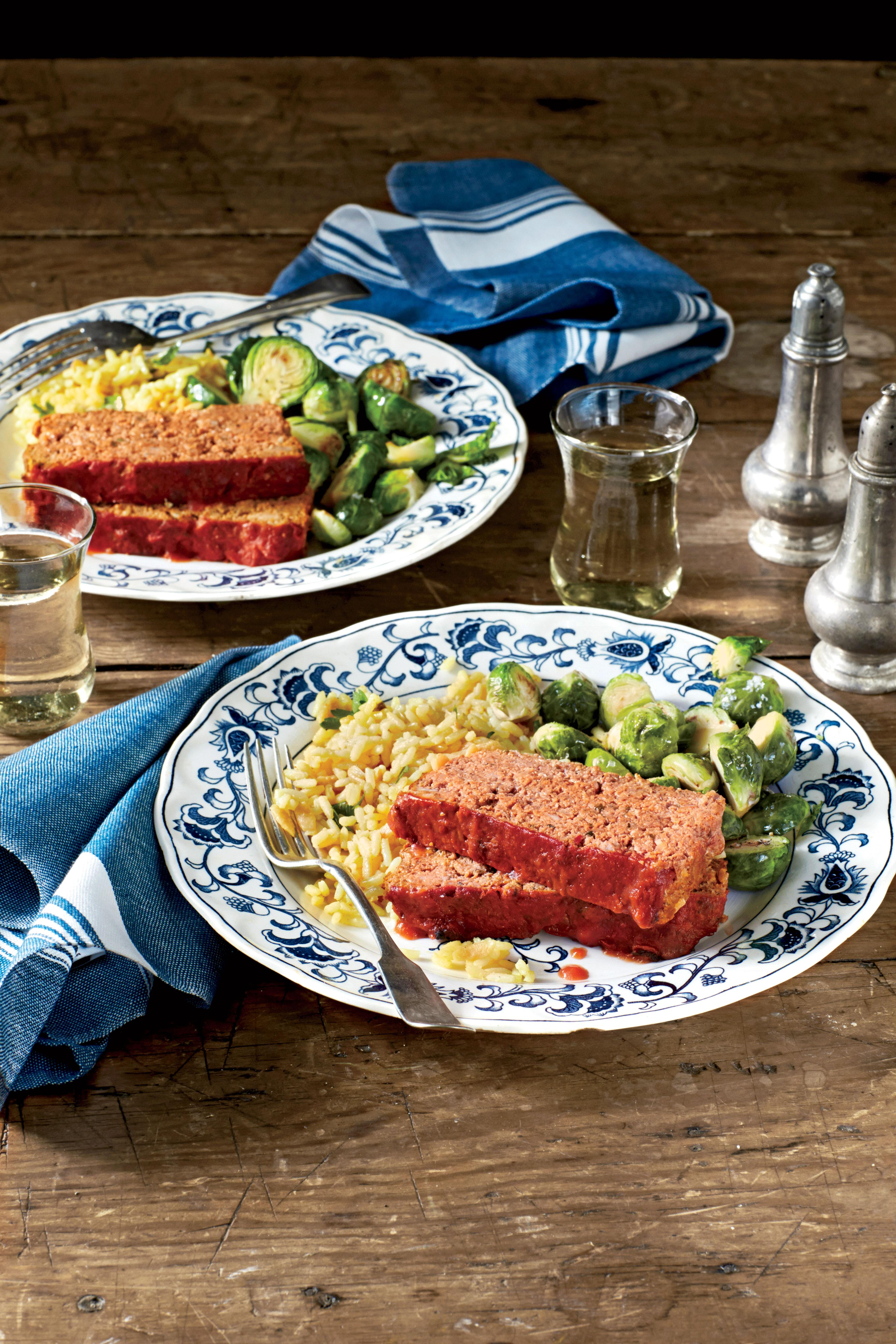 """<p><strong>Recipe: <a href=""""http://www.myrecipes.com/recipe/italian-turkey-meatloaves"""" rel=""""nofollow noopener"""" target=""""_blank"""" data-ylk=""""slk:Italian Turkey Meatloaves"""" class=""""link rapid-noclick-resp"""">Italian Turkey Meatloaves</a></strong></p><p>It's always great to double-down on a great-tasting meatloaf, and this recipe is sized so you can plan ahead for leftovers. This meal is for the person in your home we call the Sunday Strategist: They bake two meatloaves on Sunday, then serve one, and use the other for two weeknight meals. Turkey is a great lean meat for meatloaves, and it flavors and seasons well. One of the great tastes in this recipe is basil pesto, which brings its rich, full flavors to the fore. You'll also love the salty bite of Parmesan cheese, and the tender taste of baked, sliced mushrooms. The best part is that you can enjoy this meal again later in the week-and leftovers make any meal delicious.</p>"""