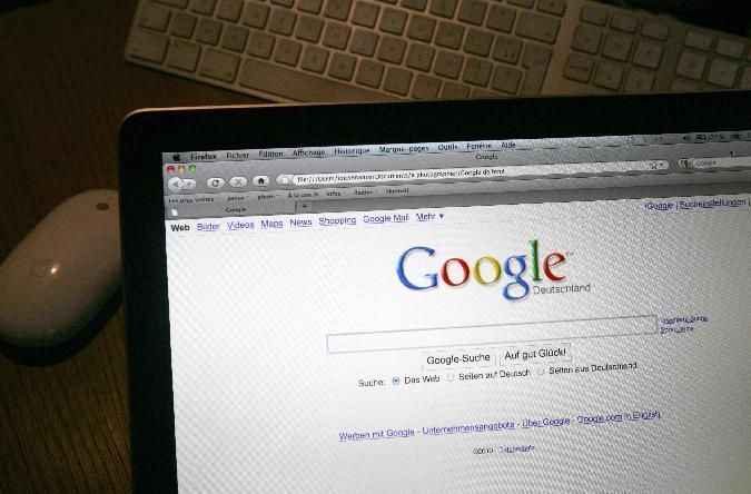 This picture taken on January 27, 2010 in Paris shows the internet homepage of the german version of the website Google, the most dominant search engine in the country