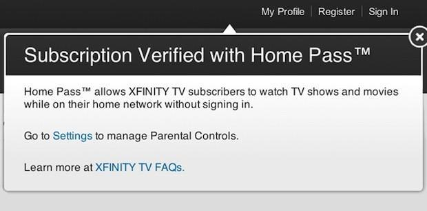 Home Pass lets Comcast subscribers watch streaming videos without logging in