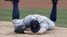 Jordan Zimmermann avoids serious injury being hit in face with 105 mph liner