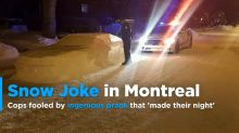 'Snow car' prank leaves Montreal police red-faced but amused