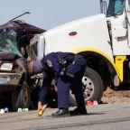 Thirteen die as truck slams crowded SUV near U.S.-Mexico border