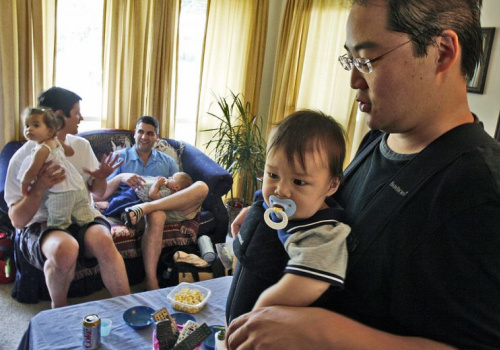 Stay-at-home dads in Rockville, Md.