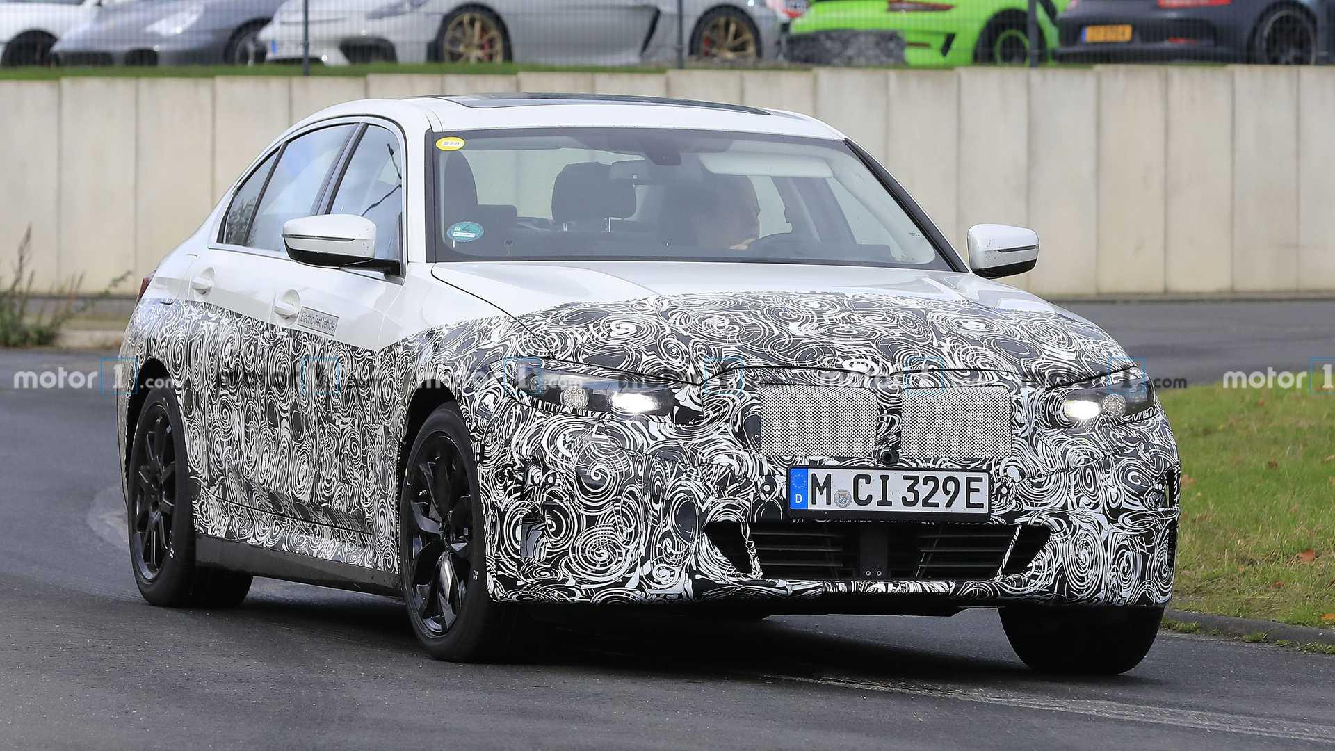 BMW 3 Series Electric spied looking a lot like the regular model