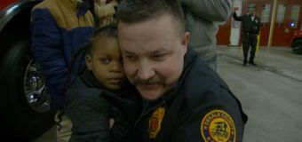 Firefighter reunites with child he rescued