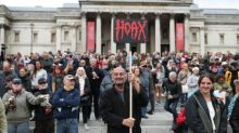 Thousands gather in Trafalgar Square to promote coronavirus conspiracy theories at 'anti-lockdown' protest