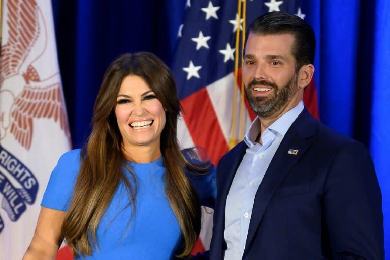 Kimberly Guilfoyle (L) with Donald Trump Jr