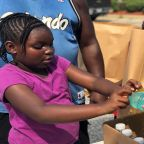 Second Harvest Food Bank drives mobile pantry to Harnett County to feed Florence victims