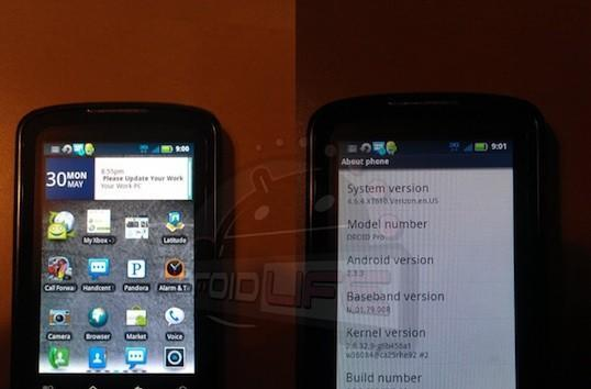 Gingerbread update begins rolling out to Motorola Droid Pro