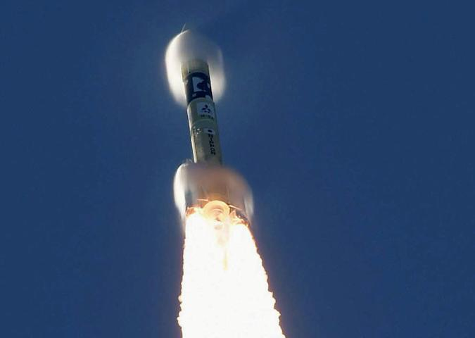 An H-2A rocket carrying the Hope Probe, developed by the Mohammed Bin Rashid Space Centre (MBRSC) in the United Arab Emirates (UAE) for the Mars explore, rises into the air after blasting off from the launching pad at Tanegashima Space Center on the southwestern island of Tanegashima, Japan, in this photo taken by Kyodo July 20, 2020. Mandatory credit Kyodo/via REUTERS ATTENTION EDITORS - THIS IMAGE WAS PROVIDED BY A THIRD PARTY. MANDATORY CREDIT. JAPAN OUT. NO COMMERCIAL OR EDITORIAL SALES IN JAPAN. THIS IMAGE WAS PROCESSED BY REUTERS TO ENHANCE QUALITY, AN UNPROCESSED VERSION HAS BEEN PROVIDED SEPARATELY