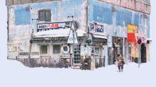 北海道雪景相 白汒汒一片似退地