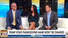 Even 'Fox & Friends' Hosts Are Confused By Trump's War On A War On 'Thanksgiving'